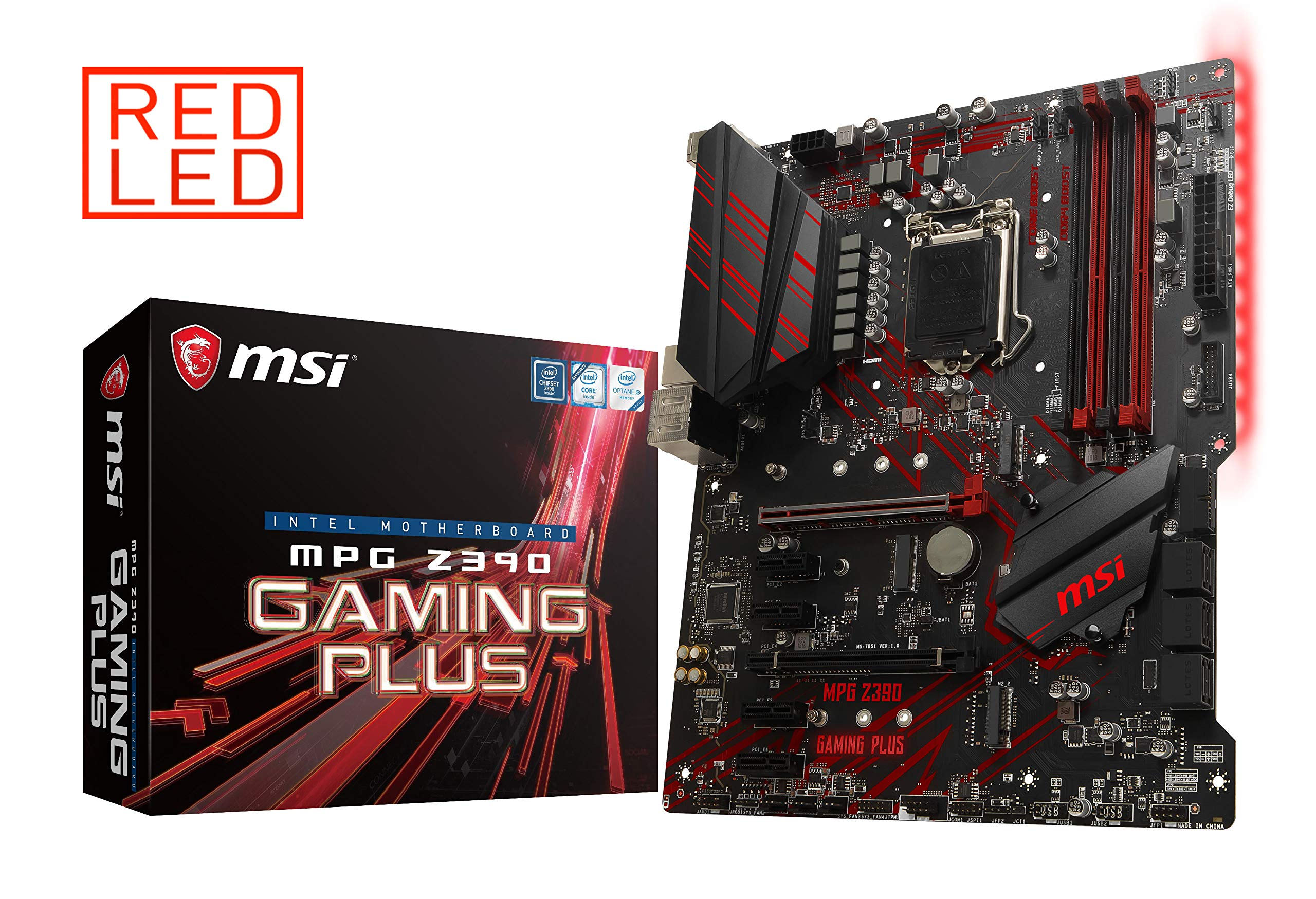 MSI MPG Z390 Gaming Plus LGA1151 (Intel 8th and 9th Gen) M.2 USB 3.1 Gen 2 DDR4 HDMI DVI CFX ATX Z390 Gaming Motherboard by MSI