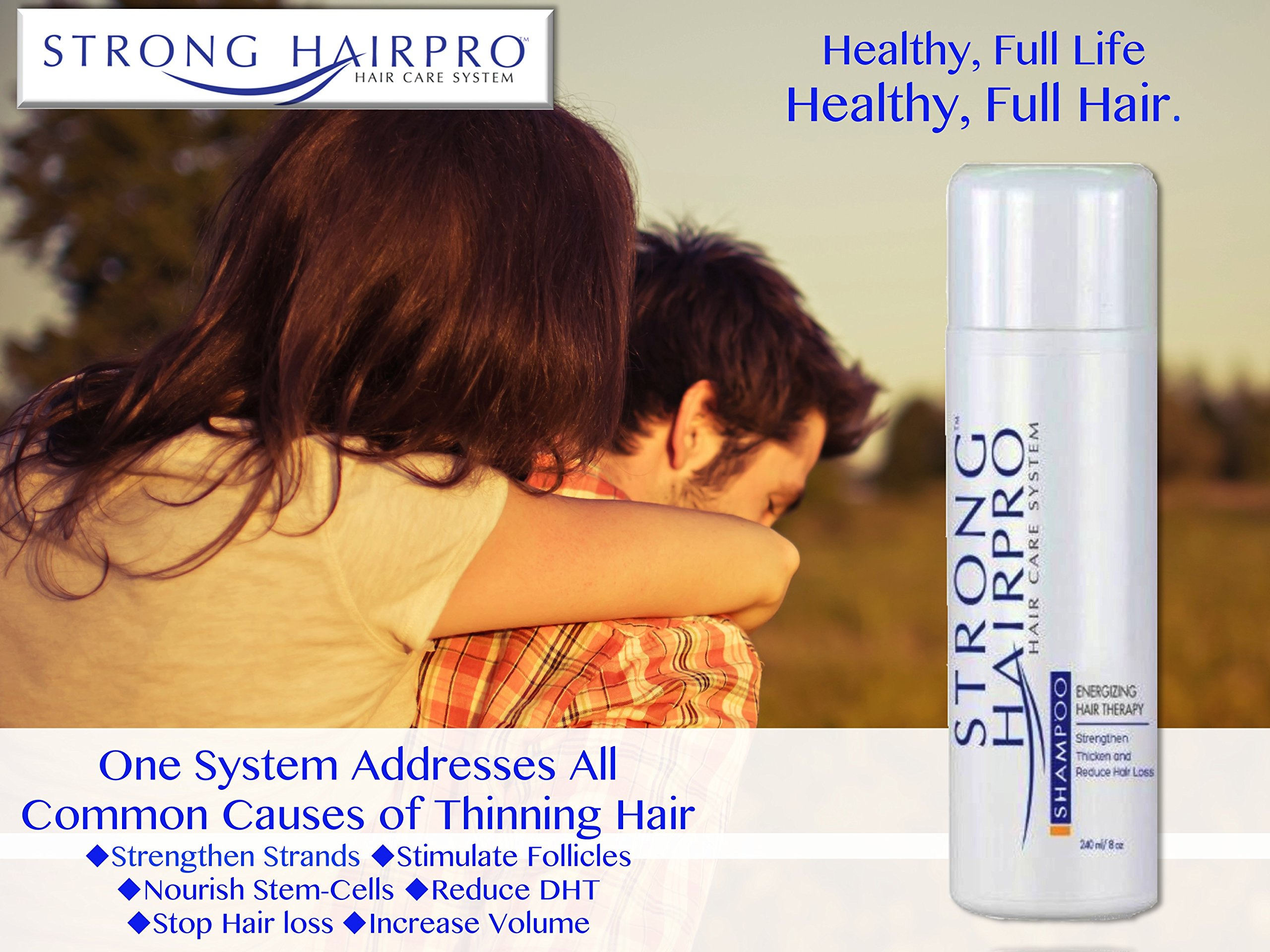 Strong HairPro New Hair Strengthening and Growth Stimulating Peptide Shampoo for Hair Loss Prevention with Caffeine, 8 Fluid Ounce by Strong HairPro (Image #2)