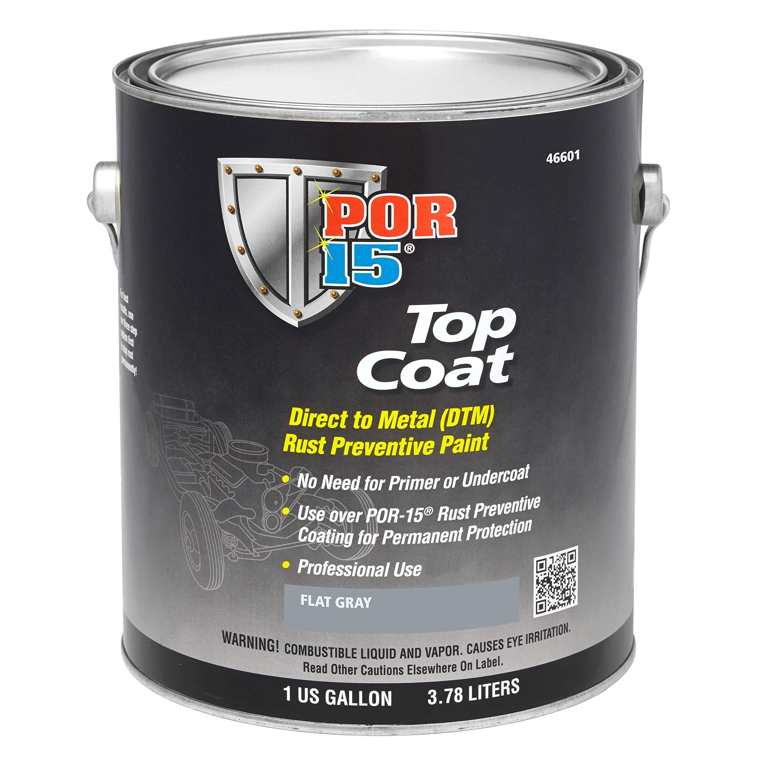 POR-15 46601 Top Coat Flat Gray Paint, 128. Fluid_Ounces