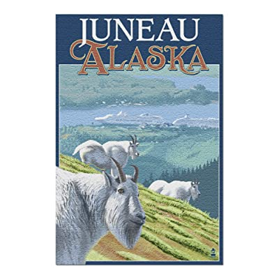 Juneau, Alaska - Goats and Cruise Ships (Premium 1000 Piece Jigsaw Puzzle for Adults, 20x30, Made in USA!): Toys & Games