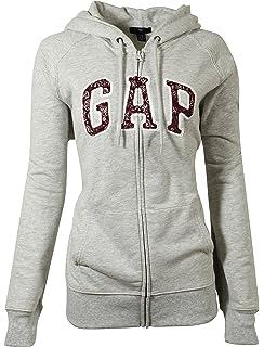 GAP Womens Fleece Arch Logo Full Zip Hoodie