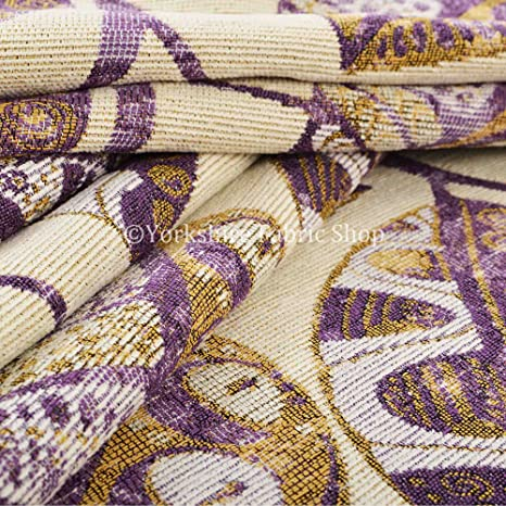 Yorkshire Fabric Shop Exclusiva tela color morado Color ...