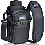 Arca Gear 32 Oz Water Bottle Holder with Shoulder Sling & Hand Strap   Built in Wallet and Large Water Resistant Phone Pocket for Storing Items   Protect Your Flask