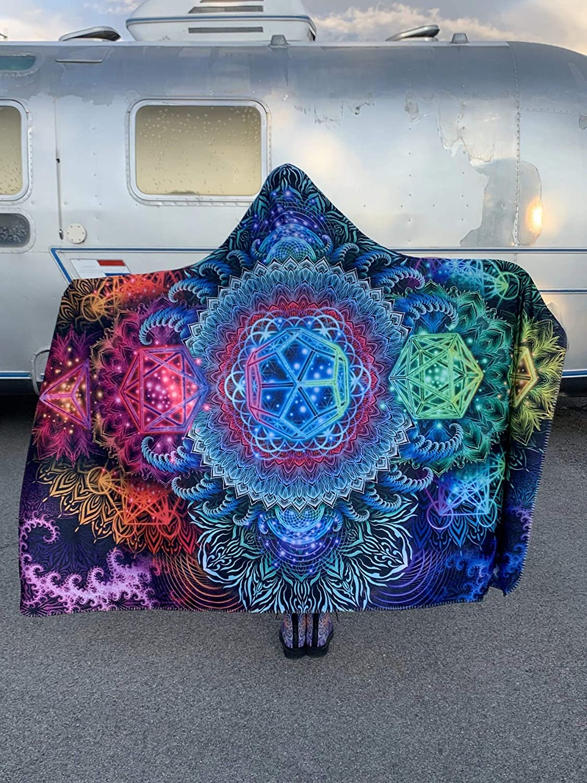 Platonic Mandala V2 Hooded Blanket
