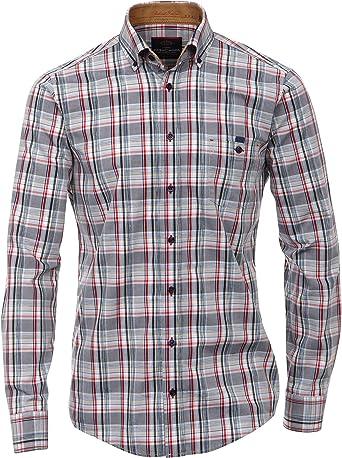 Casamoda Camisa Hombre Gris/Rojo XL: Amazon.es: Ropa y accesorios