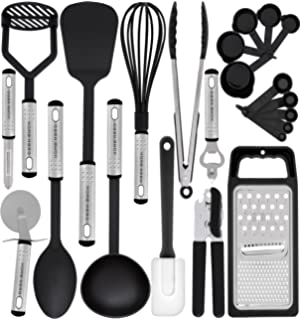 kitchen utensil set 23 nylon cooking utensils kitchen utensils with spatula kitchen gadgets - Kitchen Wares