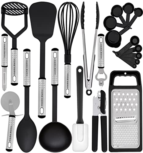 Amazon kitchen utensil set 23 nylon cooking utensils kitchen utensil set 23 nylon cooking utensils kitchen utensils with spatula kitchen gadgets teraionfo