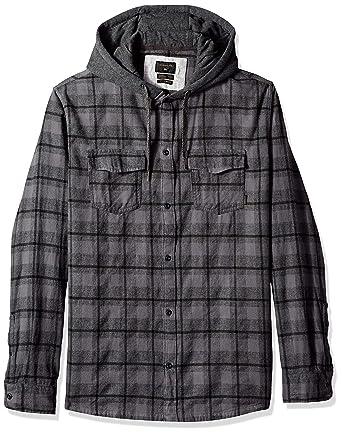 5ebecee15caa Amazon.com: Quiksilver Men's Snap Up Long Sleeve Woven Top: Clothing