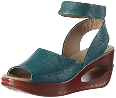 124c8062c8 Fly London Women's HERT633FLY Open Toe Sandals Green Size: 6: Amazon ...