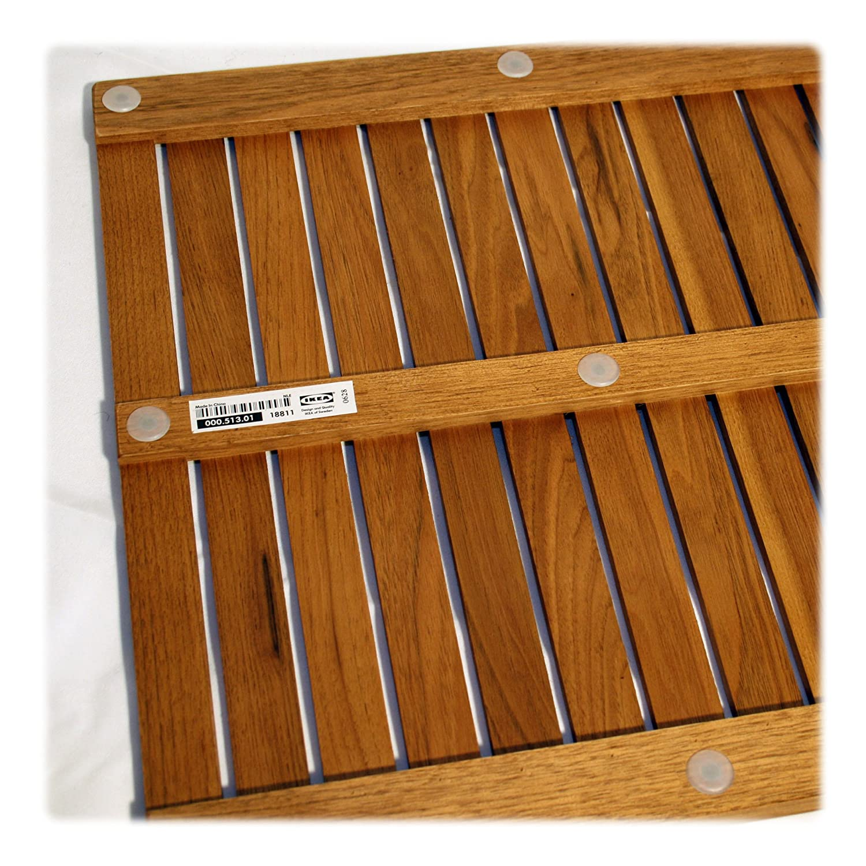 IKEA Bodenplatte Badezimmer MOLGER Walnussholz gebeizt 45 x 45 cm
