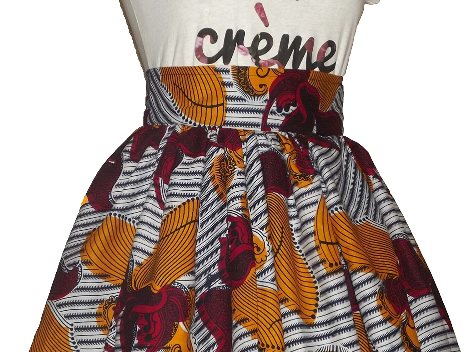 African Skirt Above Knee length, Maxi Jupe African UK size 10