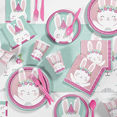 Bunny Party Birthday Party Supplies Kit, Serves 8: Toys & Games