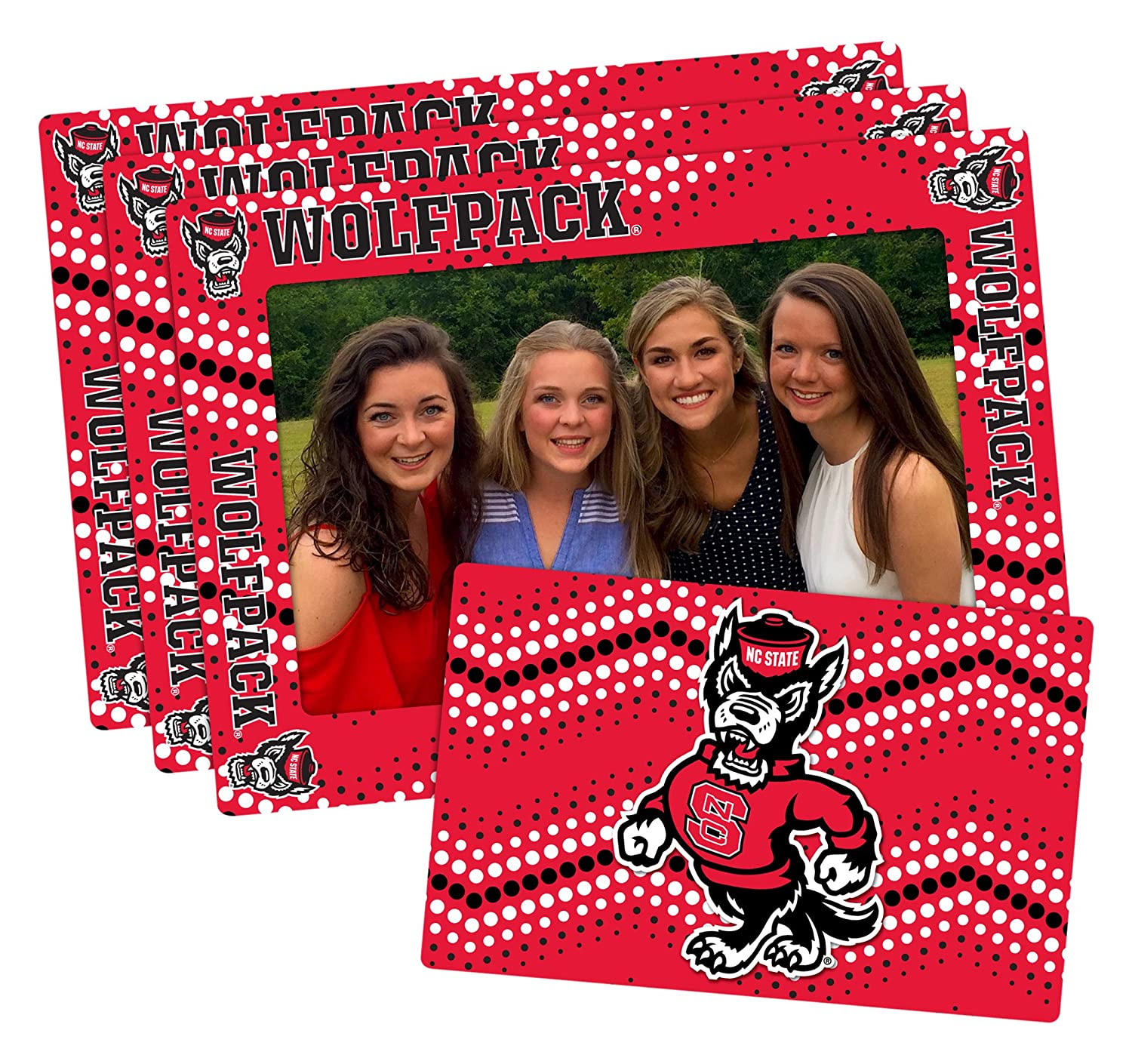 NCAA Magnetic Frame /& Bonus Magnet 3 Pack Red 4-inch by 6-inch