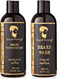 Beard Shampoo and Beard Conditioner Wash & Growth kit for Men Care - Softener & Moisturizer for Hydrating, Cleansing and…