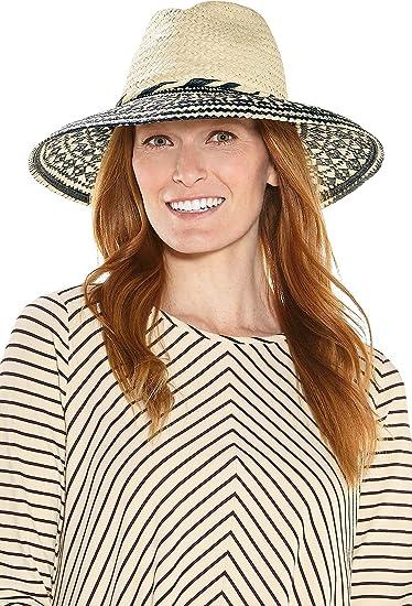 4788cb03 Coolibar UPF 50+ Women's MacLaine Sun Hat - Sun Protective (One Size-  Tan/Black Colorblock) at Amazon Women's Clothing store: