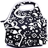 MATTINO Insulated Lunch Bag - Neoprene Lunch Bag – Large Reusable Lunch Tote Bags for Women, Teens, Girls, Kids, Baby, Adults – Cool Fashion Designer Lunch Box for Work, Office, School or Gym