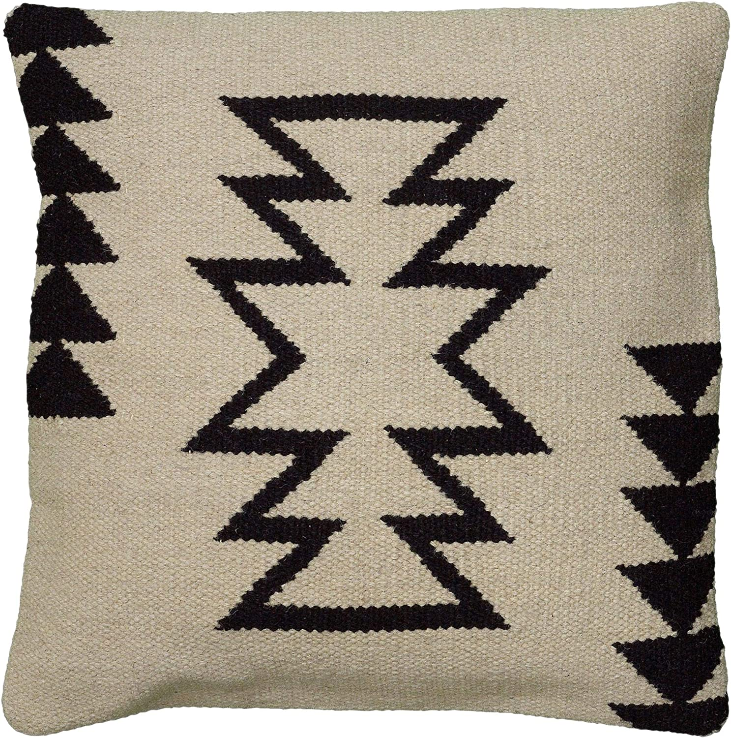 Rizzy Home T05815 Decorative Pillow 18 X18 Black White Neutral Home Kitchen