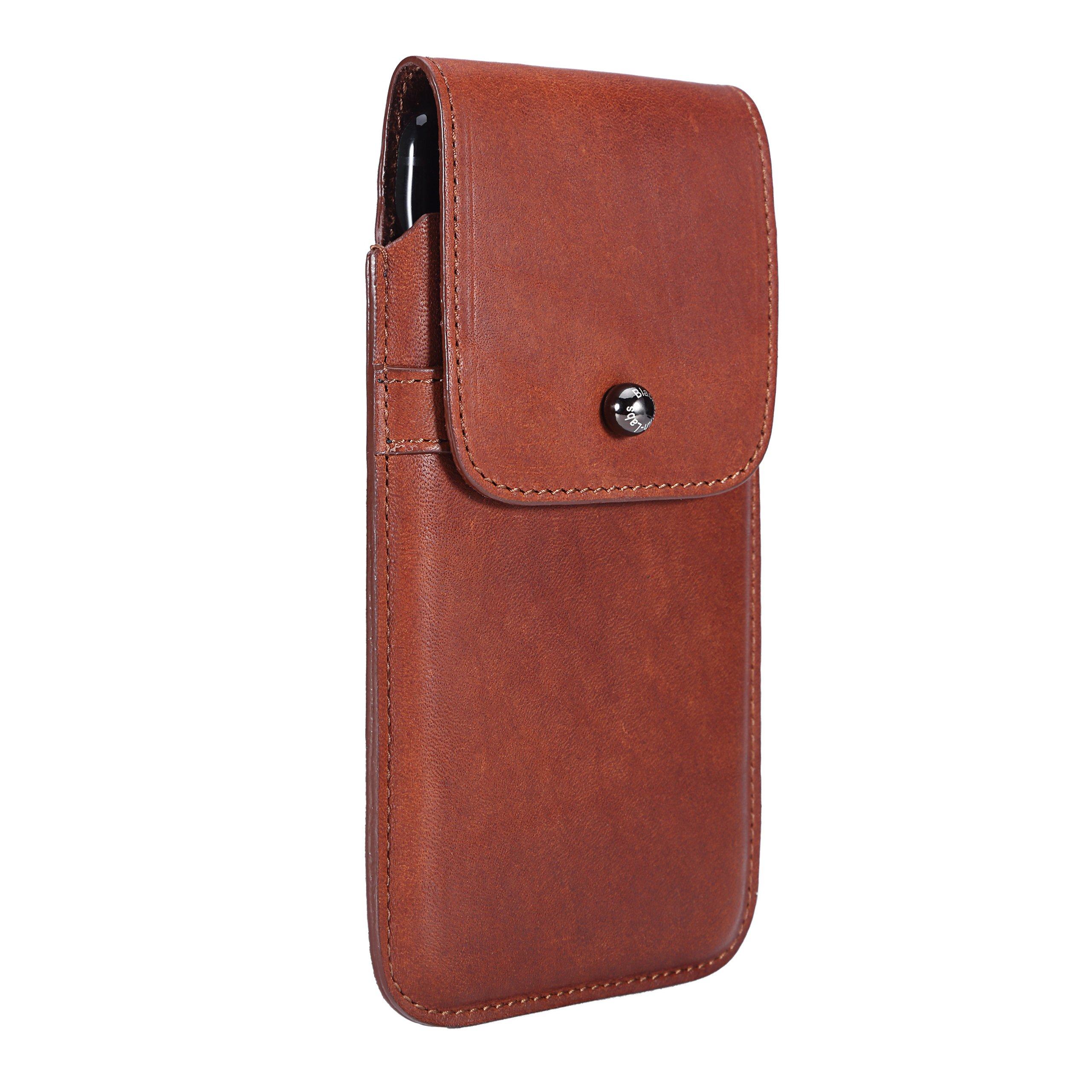 Limited Edition: Blacksmith-Labs Barrett 2017 Premium Leather Swivel Belt Clip Holster for Apple iPhone 7 Plus for use with No Case - Horween Essex Dark Cognac/Gunmetal Belt Clip