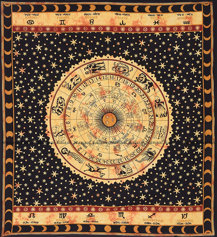 Horoscope Tapestries,Zodiac Wall Decor Art Zodiac Wall Art Astrology Tapestry