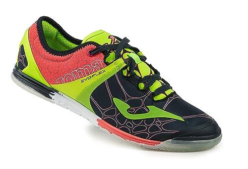 Zapatillas de fútbol Sala Joma EVOS 603 Navy-Verde Indoor: Amazon.es: Zapatos y complementos