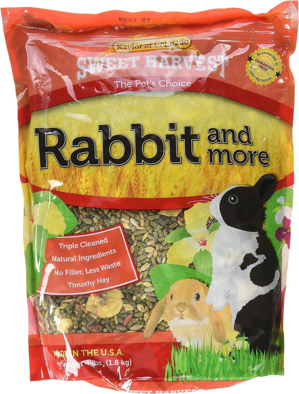 Sweet Harvest Rabbit Food, Premium Timothy Hay Pellets with added Specialty Ingredients, 4 lbs Bag