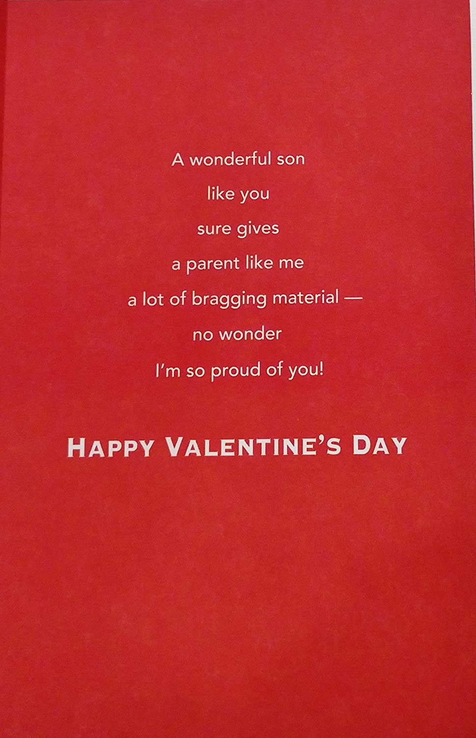 Amazoncom For You Son With Love And Pride Happy Valentines Day