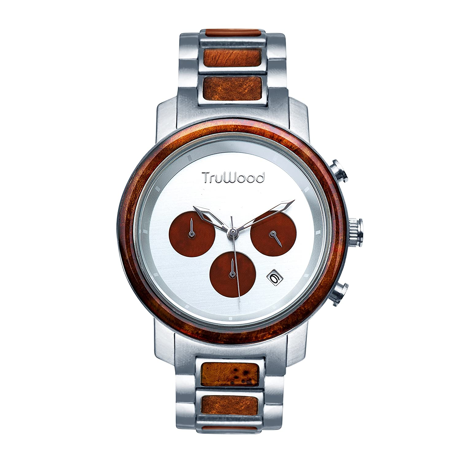 truwood OdysseyクロノグラフWooden Watch with Brown Wood for Men B07CZ1NHSF