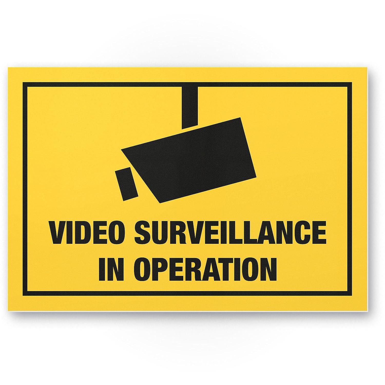 Video Surveillance Cartel (Amarillo, 30 x 20 cm) - Atención ...