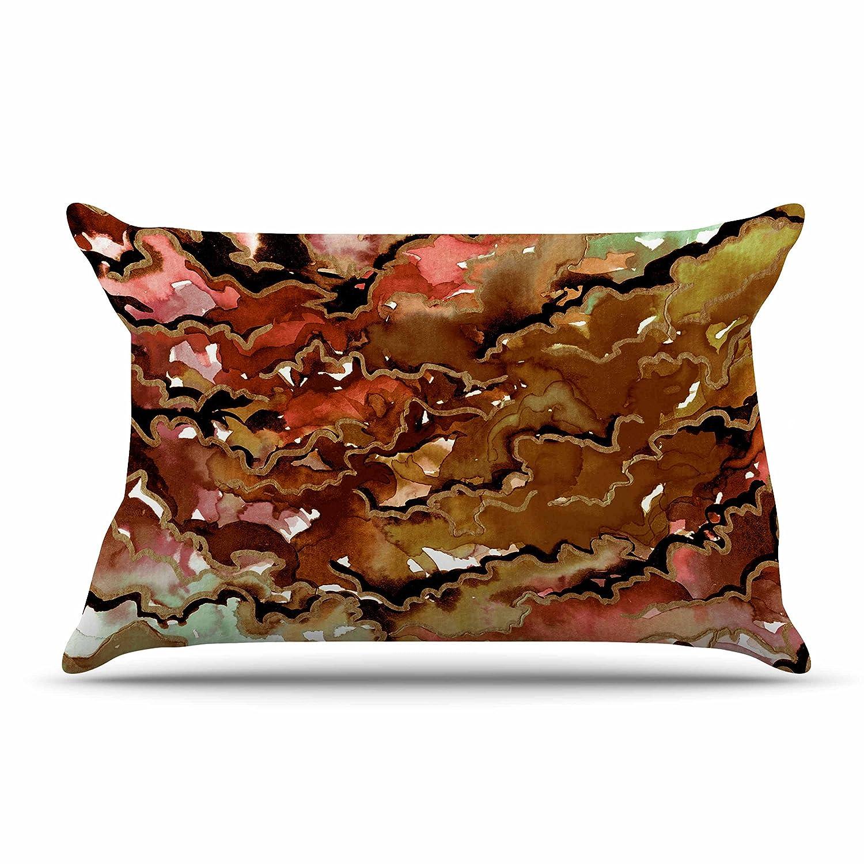 40 x 20 Pillow Sham Kess InHouse EBI Emporium Texas Love Tan Brown Painting