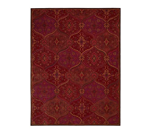 Nourison India House Red Area Rug 3 6 x 5 6