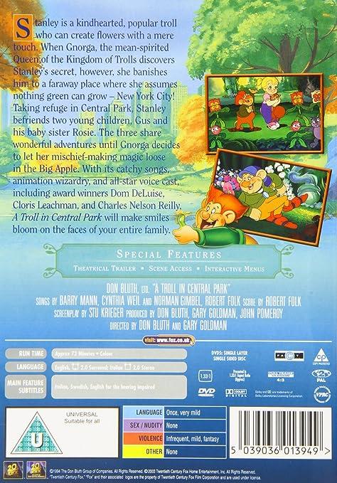 Troll In Central Park A DVD [Reino Unido]: Amazon.es: Jonathan Pryce, Charles Nelson Reilly, Dom DeLuise, Cloris Leachman, Phillip Glasser, Tawny Sunshine Glover, Hayley Mills, Gary Goldman, Don Bluth, Jonathan Pryce, Charles