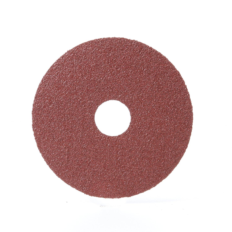 4-1//2 Diameter 80 Grit 3M Fibre Disc 381C Pack of 25 Aluminum Oxide