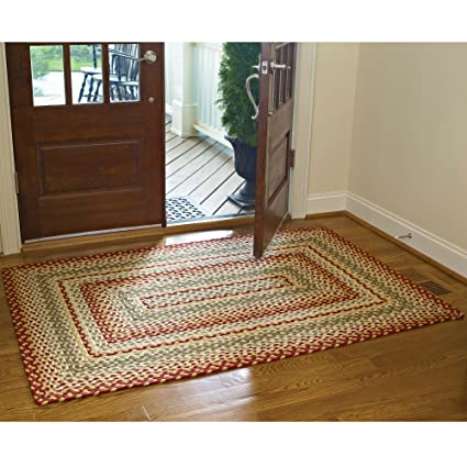 Amazoncom Park Designs Mill Village Braided Rectangle Rug 48x72