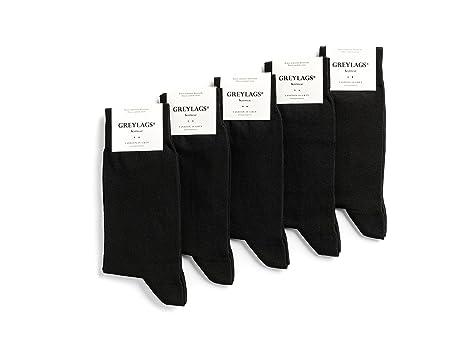 Greylags 5-10 Paar PREMIUM Socken gekämmte Baumwolle bequem ohne drückende Naht in schwarz in grau oder in blau