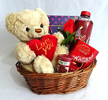 Valentines Day Gift Basket Hamper For Her Birthday Wife Girlfriend