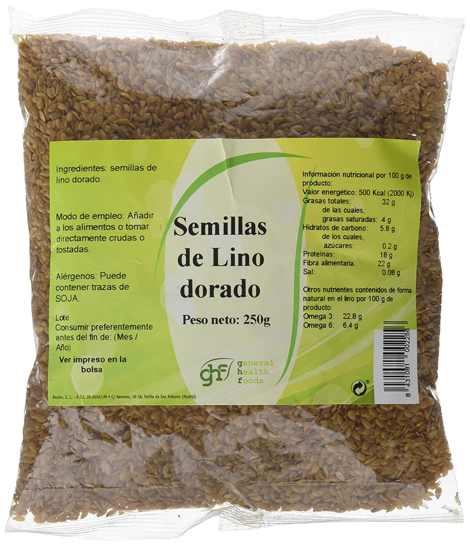 GHF - GHF Semillas de Lino 250 grs: Amazon.es: Salud y ...