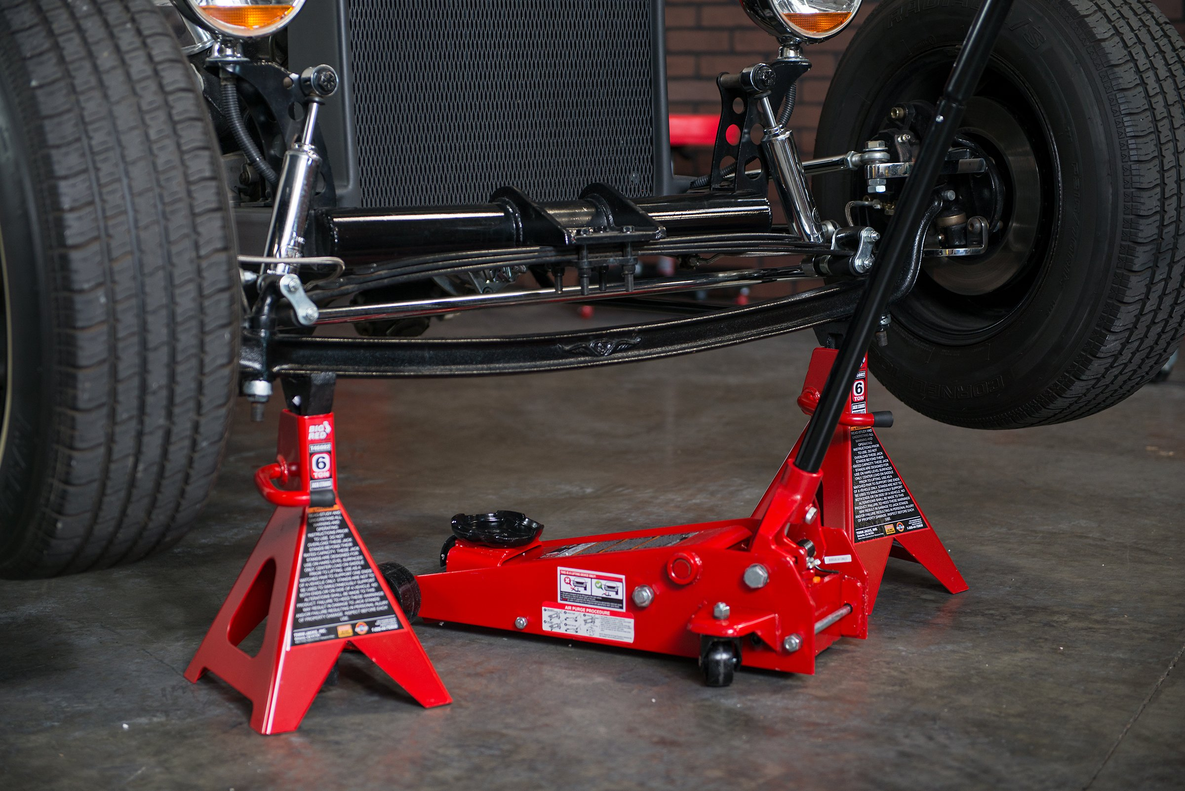 Torin Big Red Steel Jack Stands: Double Locking, 6 Ton Capacity, 1 Pair by Torin (Image #10)