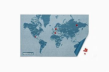amazon pin map ピン マップ mini world 世界地図 風景 オンライン通販