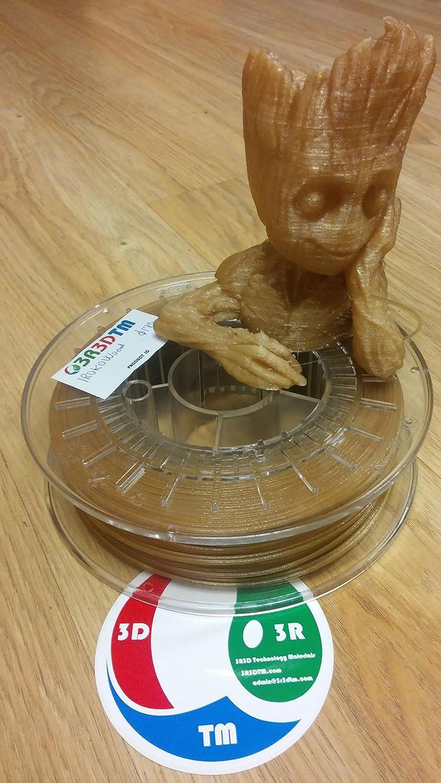 3R3DTM IrokoWood 3D printing filament 1,75mm 750gr: Amazon.es ...