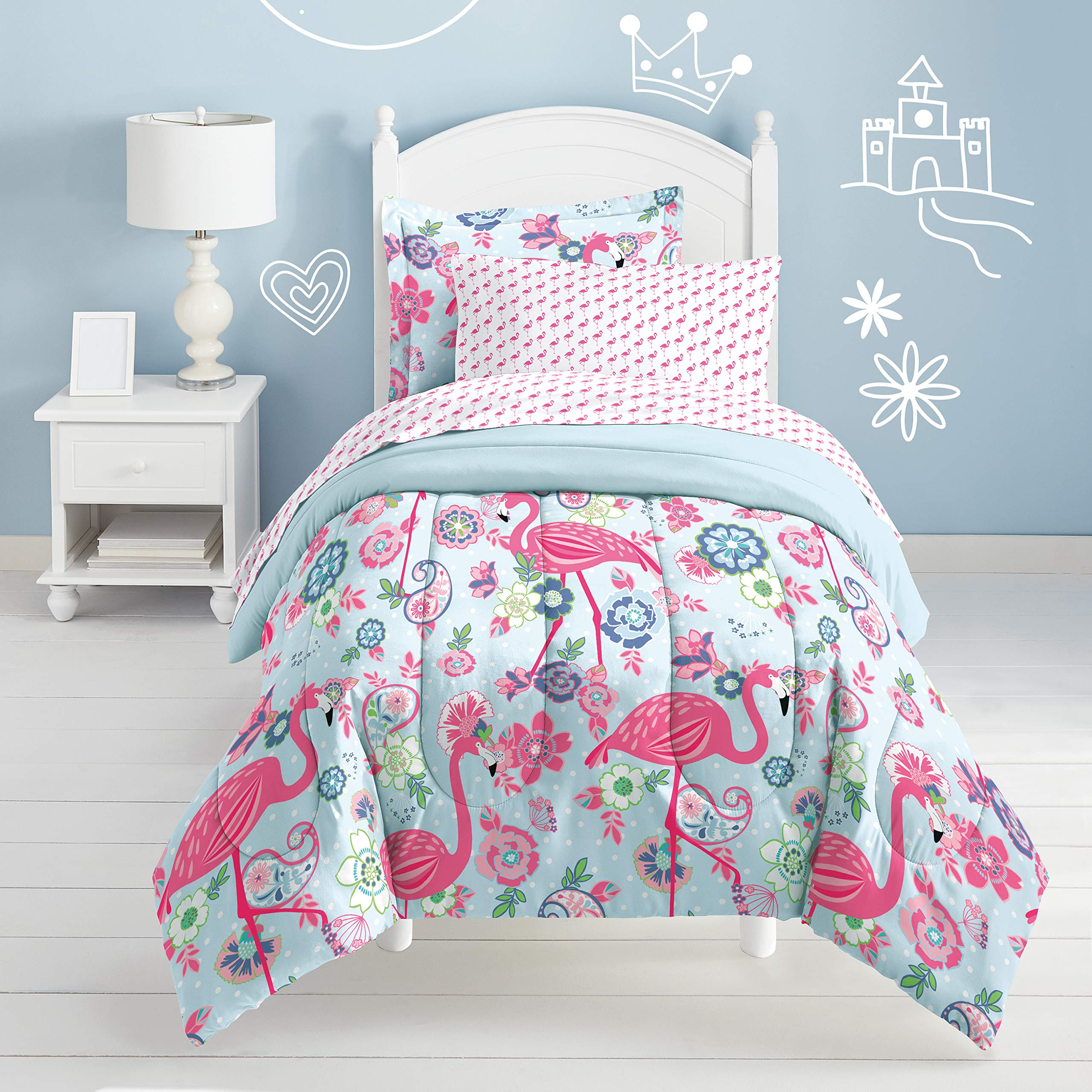 Dream Factory Flamingo Comforter Set, Pink, Twin by Dream Factory (Image #3)