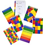 60 Count Mini Color Brick Notepads for Kids Bulk Birthday Party Favors Classroom Teacher Rewards by Gift Boutique