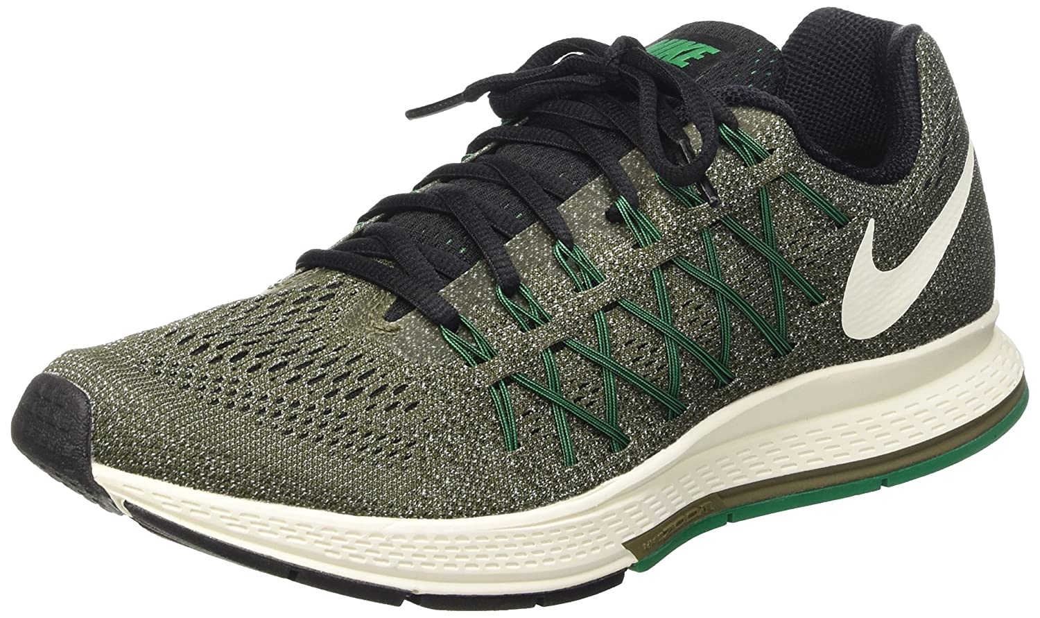 low priced 2e963 974f9 Nike Men s Air Zoom Pegasus 32 Running Shoes, Multicolor-Mehrfarbig (Cargo  Khaki Sail-LCD Green-Blk), 6.5  Amazon.co.uk  Shoes   Bags