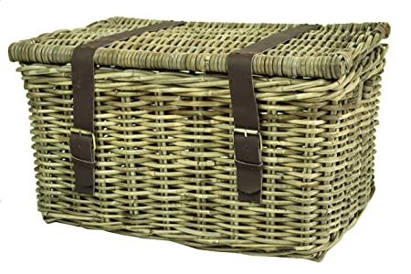 east2eden Grey Kubu Rattan Durable Strong Wicker Chest Trunk H&er Storage Basket in Choice of Sizes  sc 1 st  Amazon UK & east2eden Grey Kubu Rattan Durable Strong Wicker Chest Trunk Hamper ...