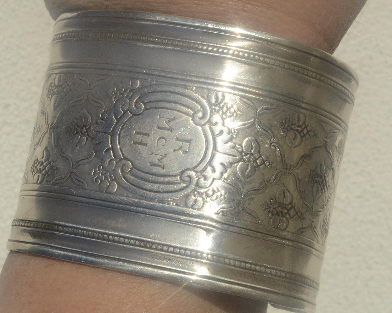 Amazon.com  Regal Baroque Antique Tiffany Wide Cuff Bracelet Art Nouveau 925  Solid Sterling Silver .925 Wide Renaissance Art Deco Mens Large Unisex  ... 9da45d762b0d