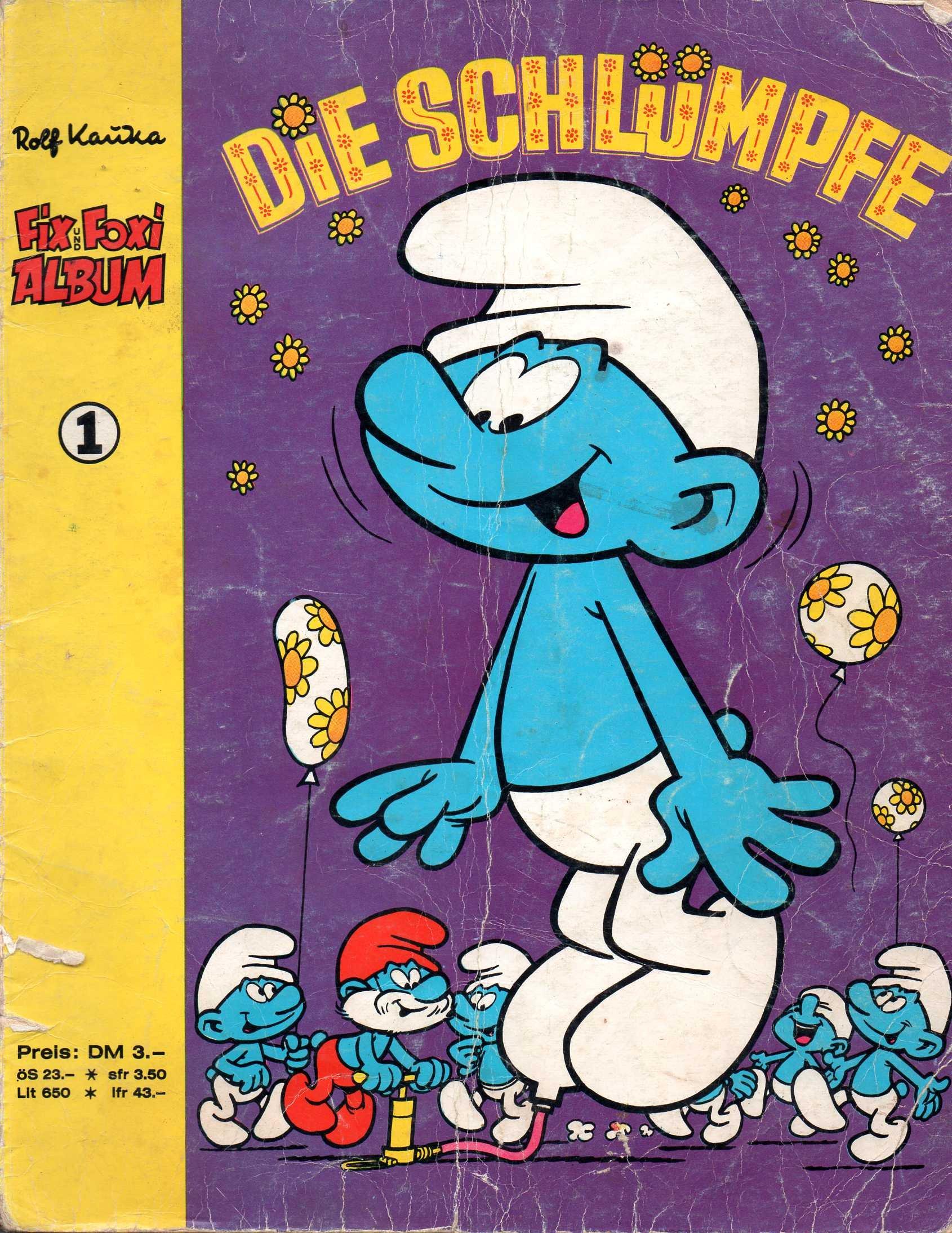 *Verlagsvergriffen* Rolf Kauka FIX UND FOXI Comic Album   1  DIE SCHLÜMPFE   Die Schwarzen Schlümpfe