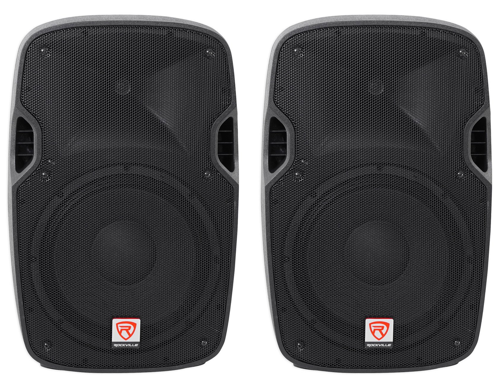 (2) Rockville SPGN128 12'' Passive 2400 Watt DJ PA Speakers ABS Cabinets 8-Ohm by Rockville