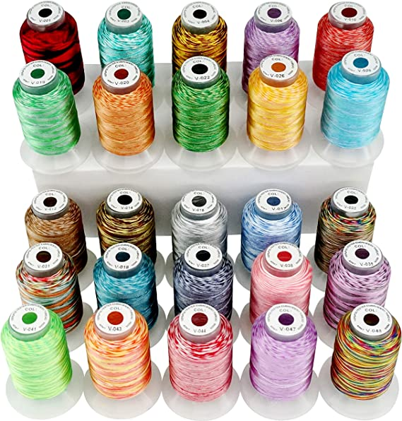 New brothread 25 Multi Colores 500M(550Y) Poliéster Bordado ...