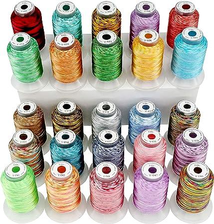 New brothread 25 Multi Colores 500M(550Y) Poliéster Bordado ...