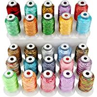 New brothread 25 Bonte Kleuren Polyester Machine Borduurgaren Kit 500M (550Y) Elke Spoel voor Brother Janome Babylock…