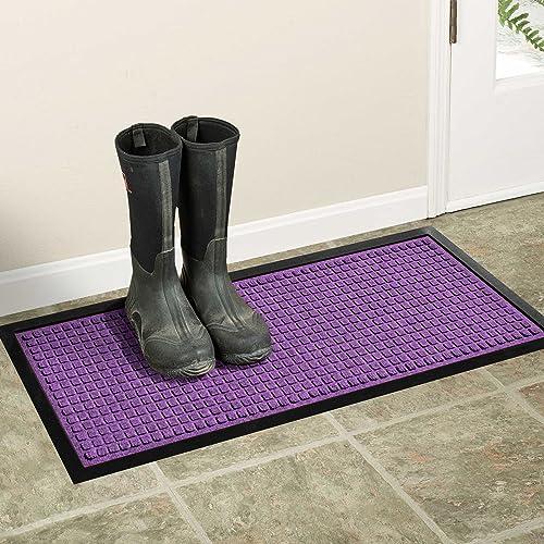 AquaShield Squares Boot Tray, 15 by 36-Inch, Purple